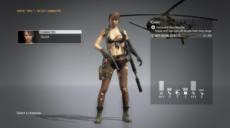 Illustration for article titled Konami Updates Metal Gear Solid V: TPP, Makes Quiet Playable On FOBs