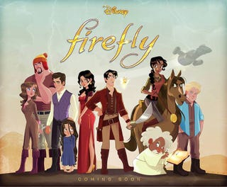 Illustration for article titled Look At This Amazing Disney Animated Firefly Mash-Up And Get Sad