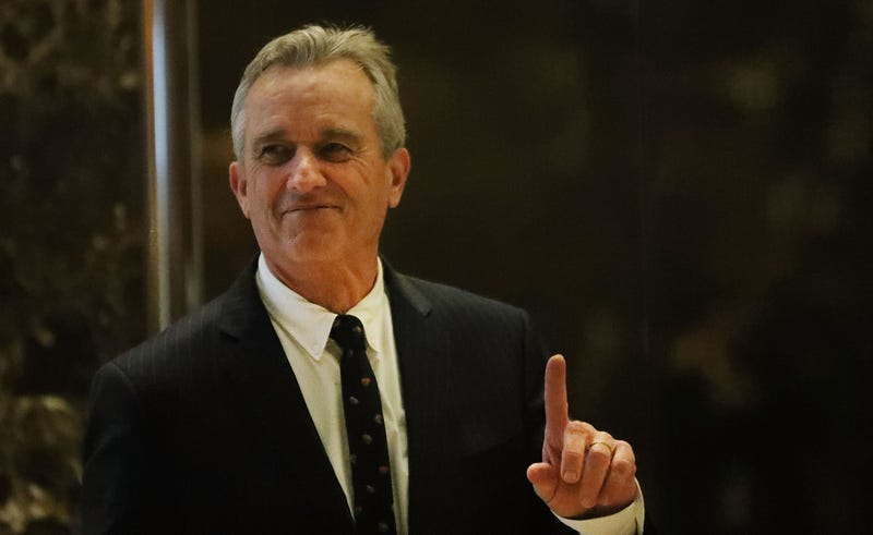 Robert F. Kennedy Jr. at Trump Tower on Tuesday. Image: Getty Images