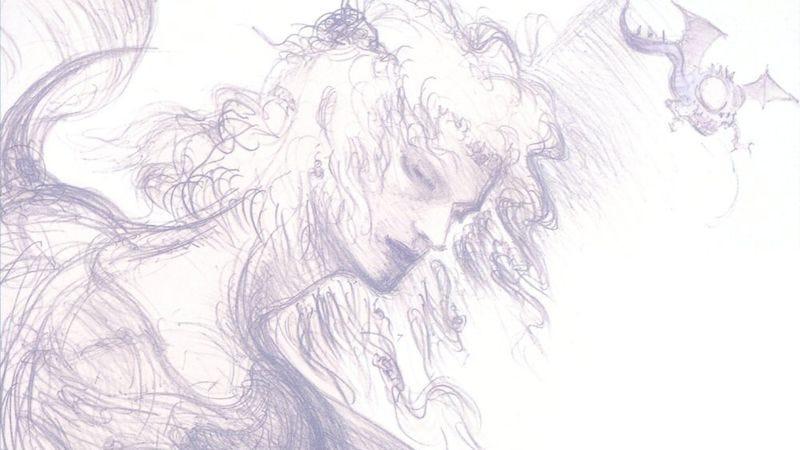 Yoshitaka Amano's concept art for Cecil in Final Fantasy IV