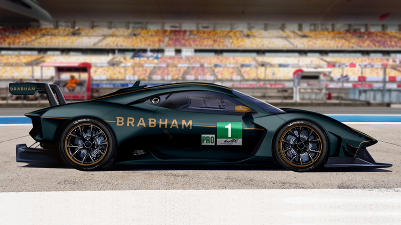 Illustration for article titled Racing Icon Brabham Wants to Head to Le Mans With Its Hardcore New BT62 Supercar
