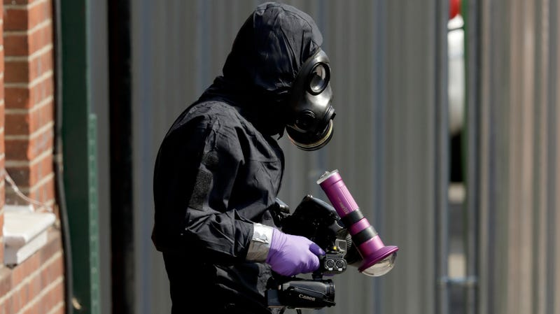 A British investigator works in Salisbury, Britain on July 6th, 2018.