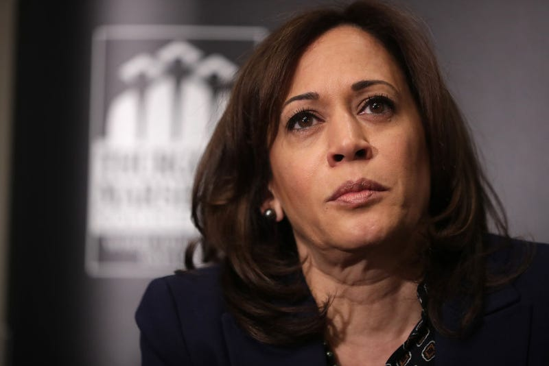 Democratic presidential candidate Sen. Kamala Harris (D-Calif.) participates in a interview and question-and-answer session with leaders from historically black colleges and universities during a Thurgood Marshall College Fund event at the JW Marriott February 07, 2019 in Washington, DC.