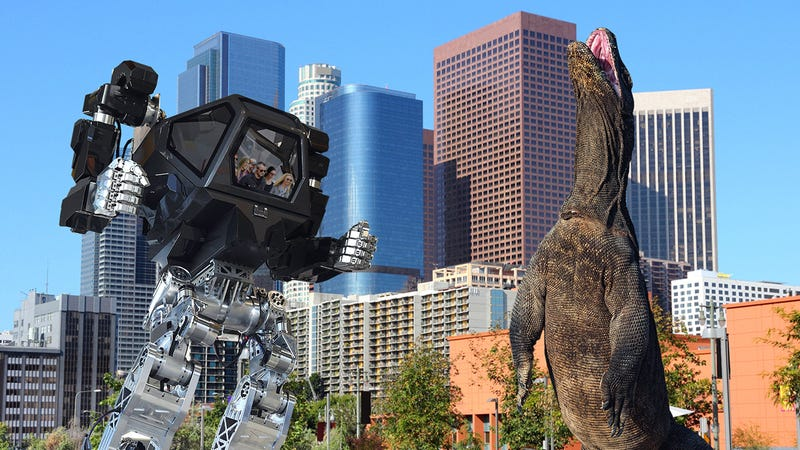Illustration for article titled TV Fans Rejoice! The Cast Of Friends Reunited To Form A Giant Mech Suit To Battle A Colossal Lizard Attacking L.A.