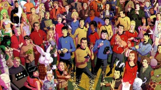 Illustration for article titled How many characters can you identify in this massive original Star Trek poster?