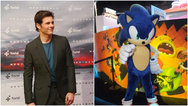 Illustration for article titled James Marsden dooms himself to meme-hood by starring in the Sonic The Hedgehog movie