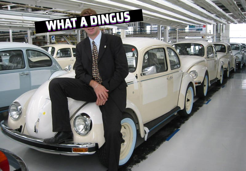 Illustration for article titled Some Dingus Is Selling A VW Beetle For $1 Million