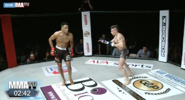 MMA fighter showboats in the ring, gets knocked out