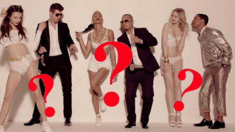 """Illustration for article titled Robin Thicke and Pharrell to appeal """"Blurred Lines"""" decision"""