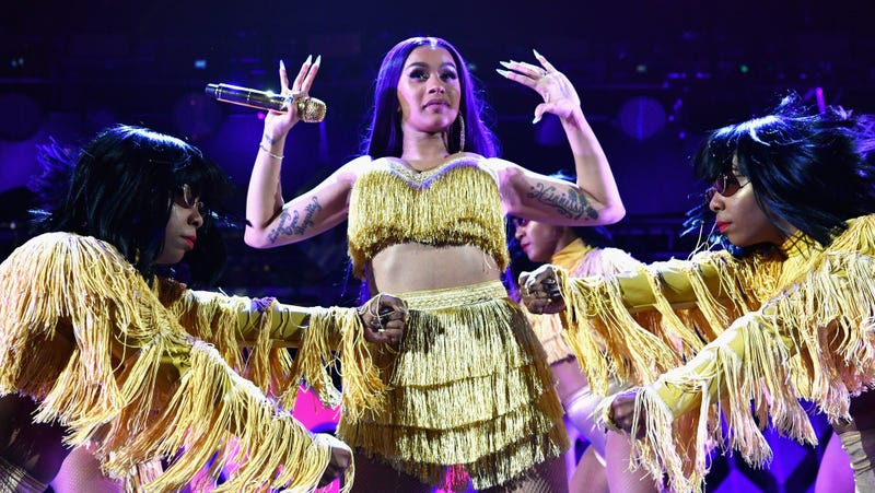 Cardi B performs onstage during 102.7 KISS FM's Jingle Ball 2018 Presented by Capital One at The Forum on November 30, 2018 in Inglewood, California.