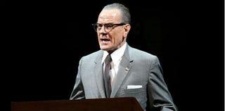 Bryan Cranston as President Lyndon B. Johnson in All the Way (Evgenia Eliseeva/American Repertory Theater)