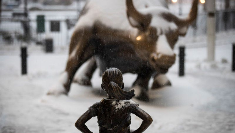 Fund behind Fearless Girl statue settles unequal pay suit with $5m payout