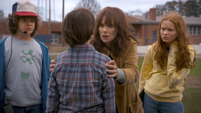 Joyce Byers (Winona Rider) is still scared in Stranger Things season 2. Image: Netflix