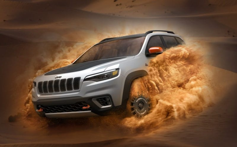 Illustration for article titled Jeep's New Deserthawk Models May Come In 2020 For Ultimate Sand Domination