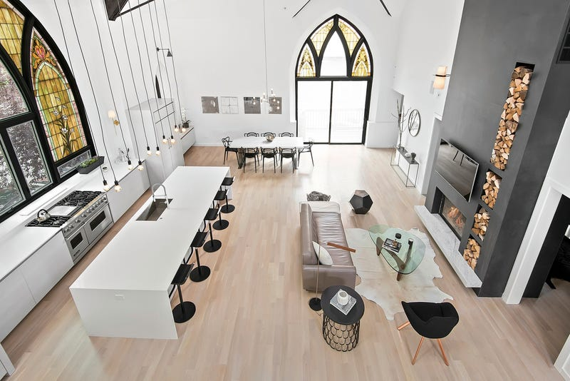 Illustration for article titled I Would Actually Go To This Converted Church Home