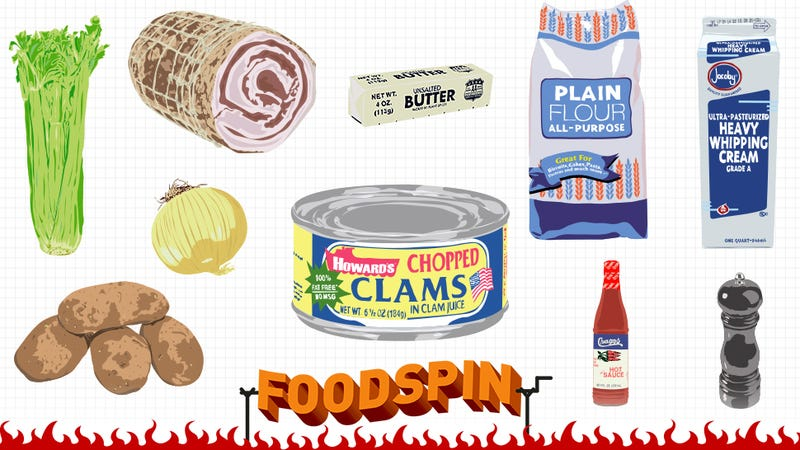 Illustration for article titled How To Make Clam Chowder Like Real Fackin' New Englandahs Do, Maybe