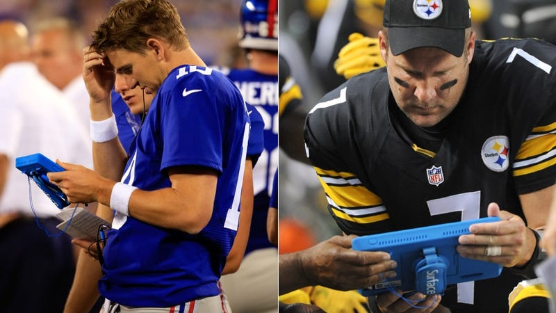 Illustration for article titled NFLers Cannot Figure Out How To Use Tablets