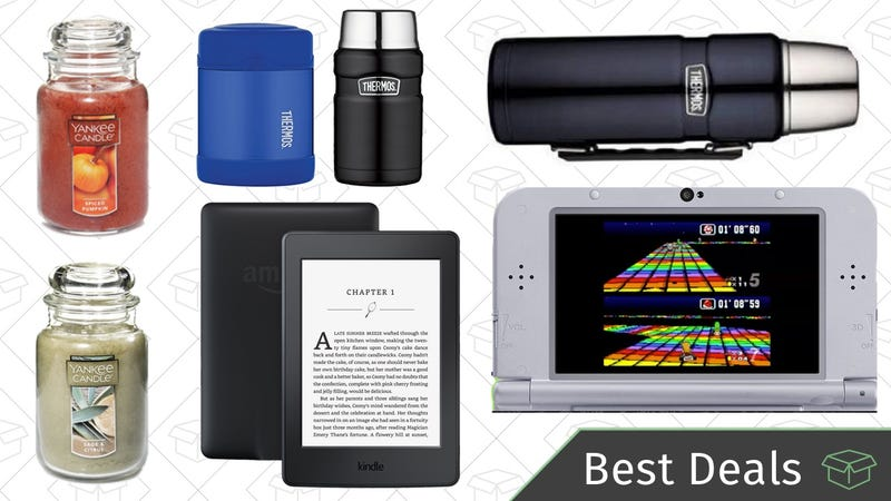 Monday's Best Deals: Amazon Kindles, Yankee Candles, Nintendo 3DS SNES Edition, and More