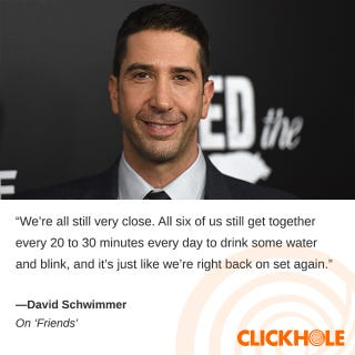 Illustration for article titled David Schwimmer said WHAT?!