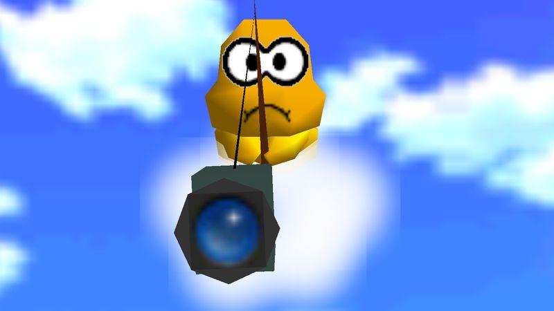 The Lakitu cameraman from Super Mario 64