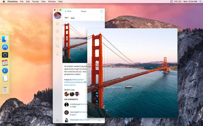 Illustration for article titled Photoflow for Mac Is a Beautiful Desktop Client for Instagram