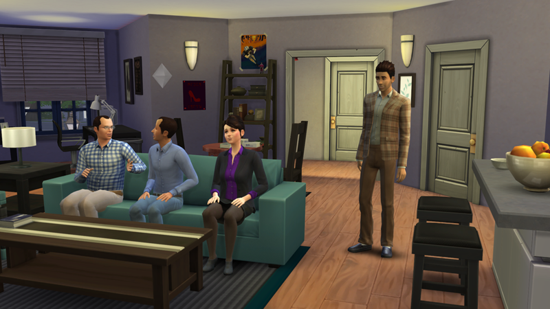 Illustration for article titled Seinfeld Meets The Sims 4