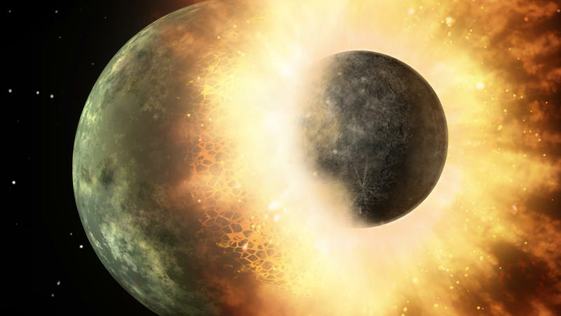 Illustration for article titled New evidence that the Moon's explosive birth was weirder than we thought