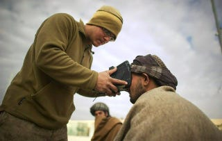 Illustration for article titled CSI bin Laden: Commandos Use Thumb, Eye Scans to Track Terrorists