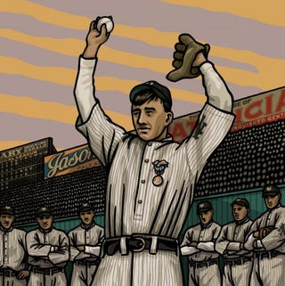 Illustration for article titled Beautiful Illustrations Of Baseball's Forgotten Heroes