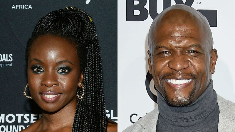 Danai Gurira, left; Terry Crews