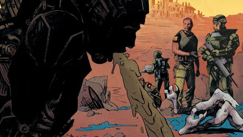 Illustration for article titled Archer's art director brings humor to sci-fi in this Redline #1 exclusive