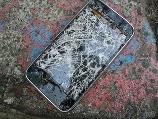 Illustration for article titled Beautiful Destruction: Gallery of Smashed iPhone 3Gs