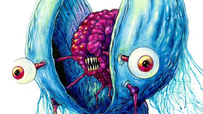 Muscles, one of the characters created for the new art show The Astralnauts by Alex Pardee and Matt Richie.