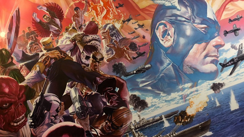 Wraparound cover art for Captain America #1