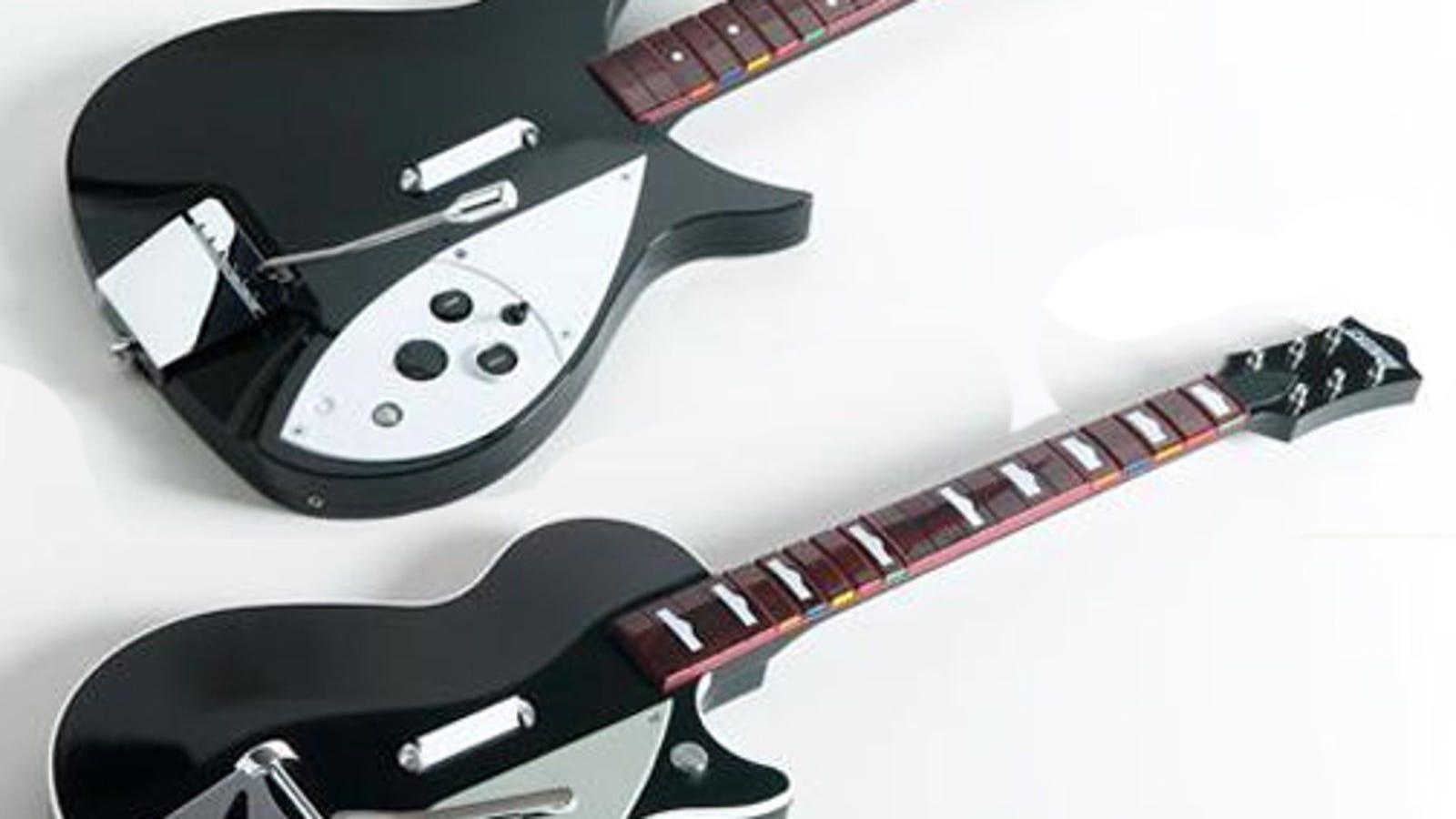 the beatles rock band gets the beatles guitars. Black Bedroom Furniture Sets. Home Design Ideas