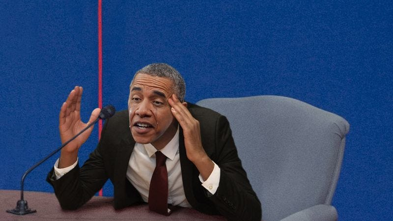Illustration for article titled Weeping Obama Breaks Down, Admits Bin Laden Still Alive And Out There Somewhere