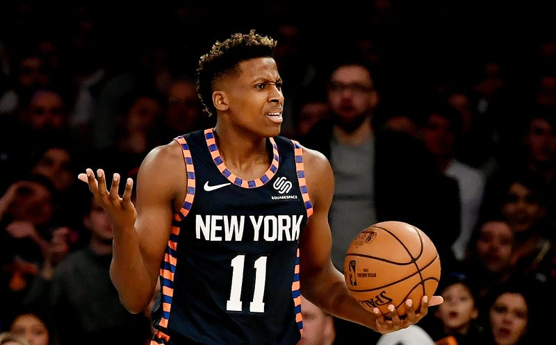 "Illustration for article titled Frank Ntilikina Gave The Knicks A ""Please Don't Trade Me"" Game"