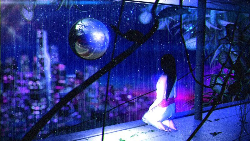 Illustration for article titled Vaporwave is no longer a joke on 2814's Rain Temple