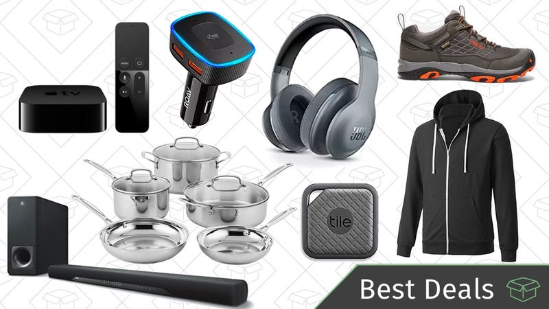 Illustration for article titled Tuesday's Best Deals: JBL Headphones, Cuisinart Cookware, Alexa For Your Car, and More