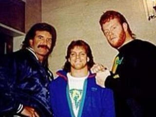 """Illustration for article titled Scott Hall On Pic With Benoit And Undertaker: """"Me, Dead Man And Taker"""""""