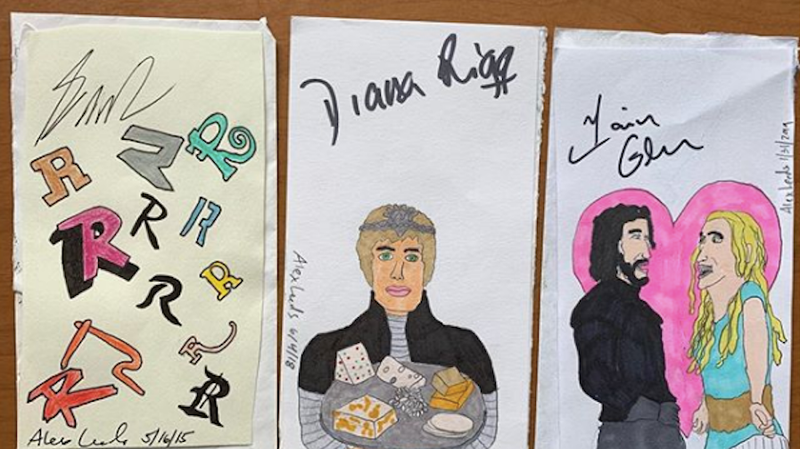 Illustration for article titled Celebrities will sign literally anything, including these dumb, extremely weird drawings