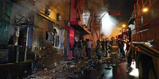 The aftermath of what appears to be the world's deadliest nightclub fire in more than 10 years. (AFP/Getty Images)