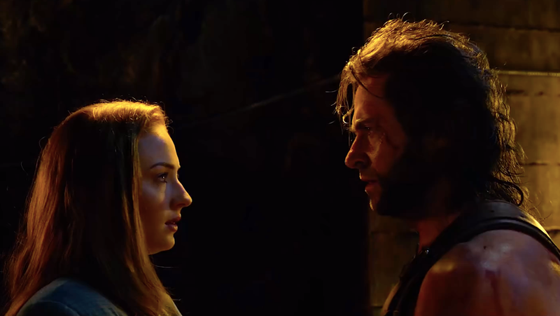 Jean Grey meeting Wolverine for the first time in X-Men: Apocalypse.