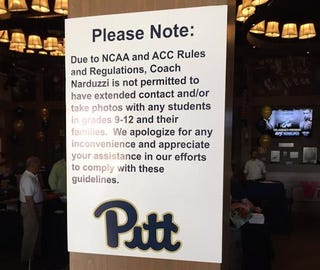 Illustration for article titled NCAA Rules Make Pitt's Pat Narduzzi Sound Like A Huge Creep