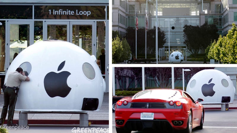 Illustration for article titled Greenpeace Invades Apple's Headquarters