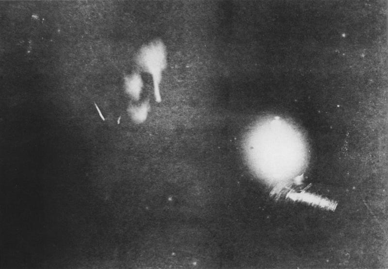 Nikola Teslas Ghostly Face Isnt The Most Significant Part Of This Photograph Its Light Emitted By A Fluorescent Bulb Own Invention
