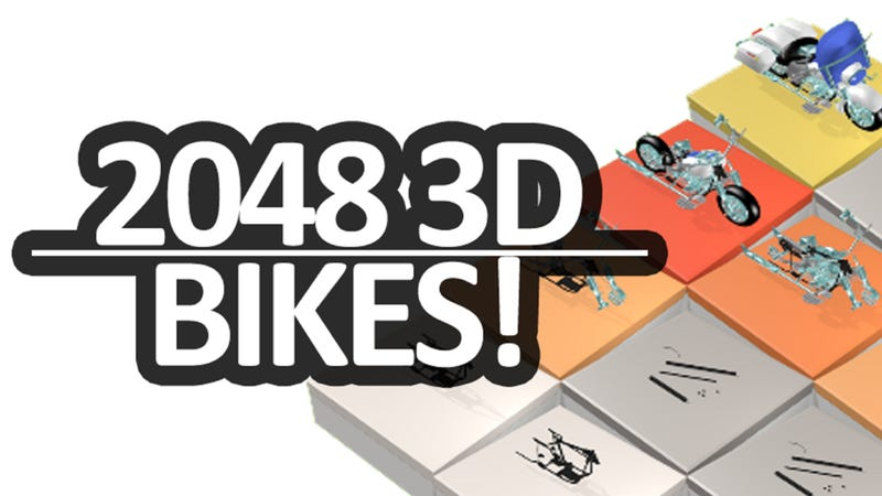 Illustration for article titled It's like the 2048 game, but with motorbikes!