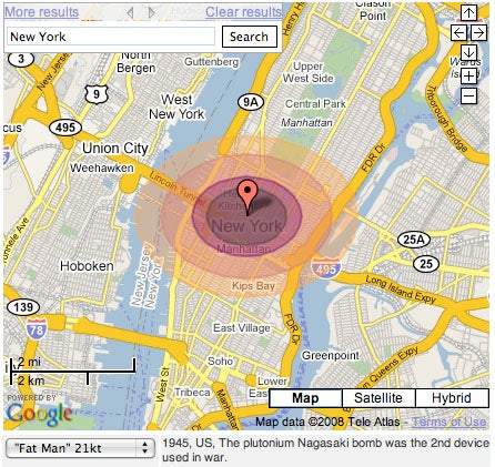 Google Maps Hack Allows You to Nuke Any City In One Click