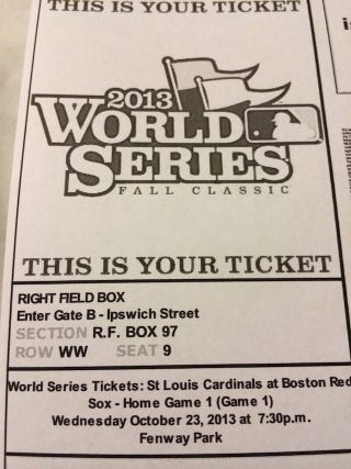 Illustration for article titled StubHub Cancels $6 World Series Ticket Sale, Gives Guy Ticket Anyway