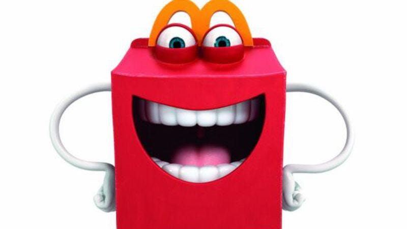 Illustration for article titled McDonald's introduces terrifying Happy Meal mascot to get kids to eat healthier